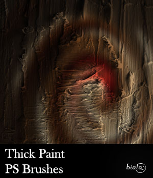 Thick Paint PS Brushes 2D Graphics biala