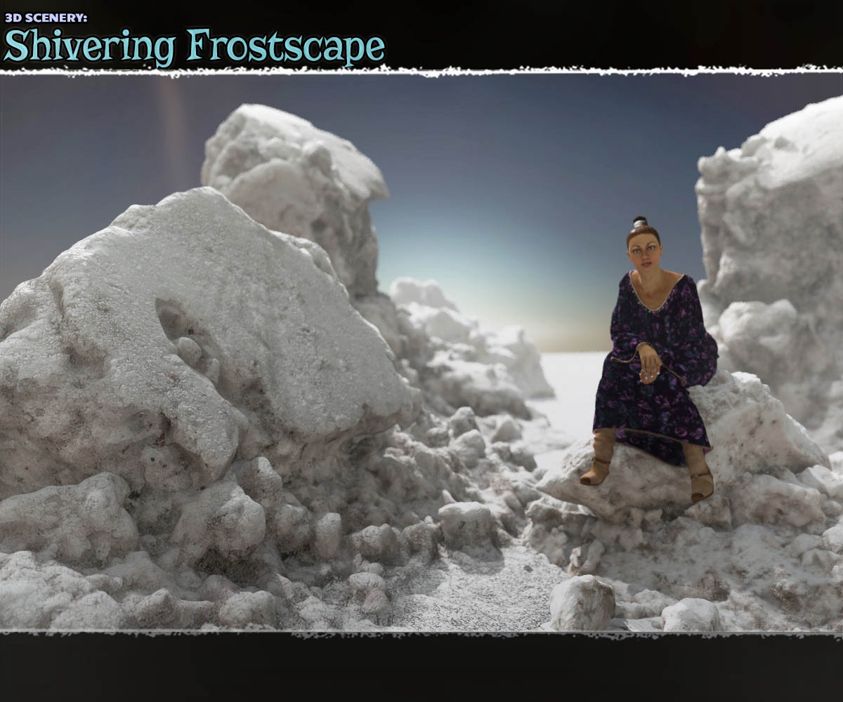 3D Scenery: Shivering Frostscape - Extended License