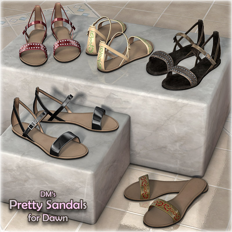 DMs Pretty Sandals for Dawn - Extended License