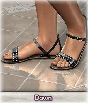 DMs Pretty Sandals for Dawn - Extended License 3D Figure Assets Extended Licenses DM