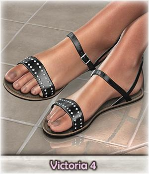DMs Pretty Sandals for V4 - Extended License 3D Figure Essentials Extended Licenses DM