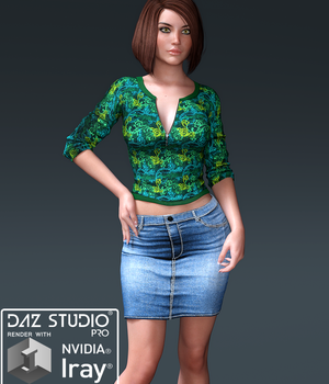 Blair Zip Top and long mini for G3F 3D Figure Essentials Lionlady