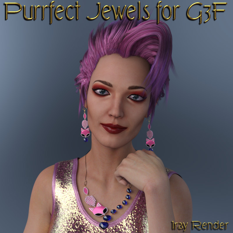 Purrfect Jewels for G3F