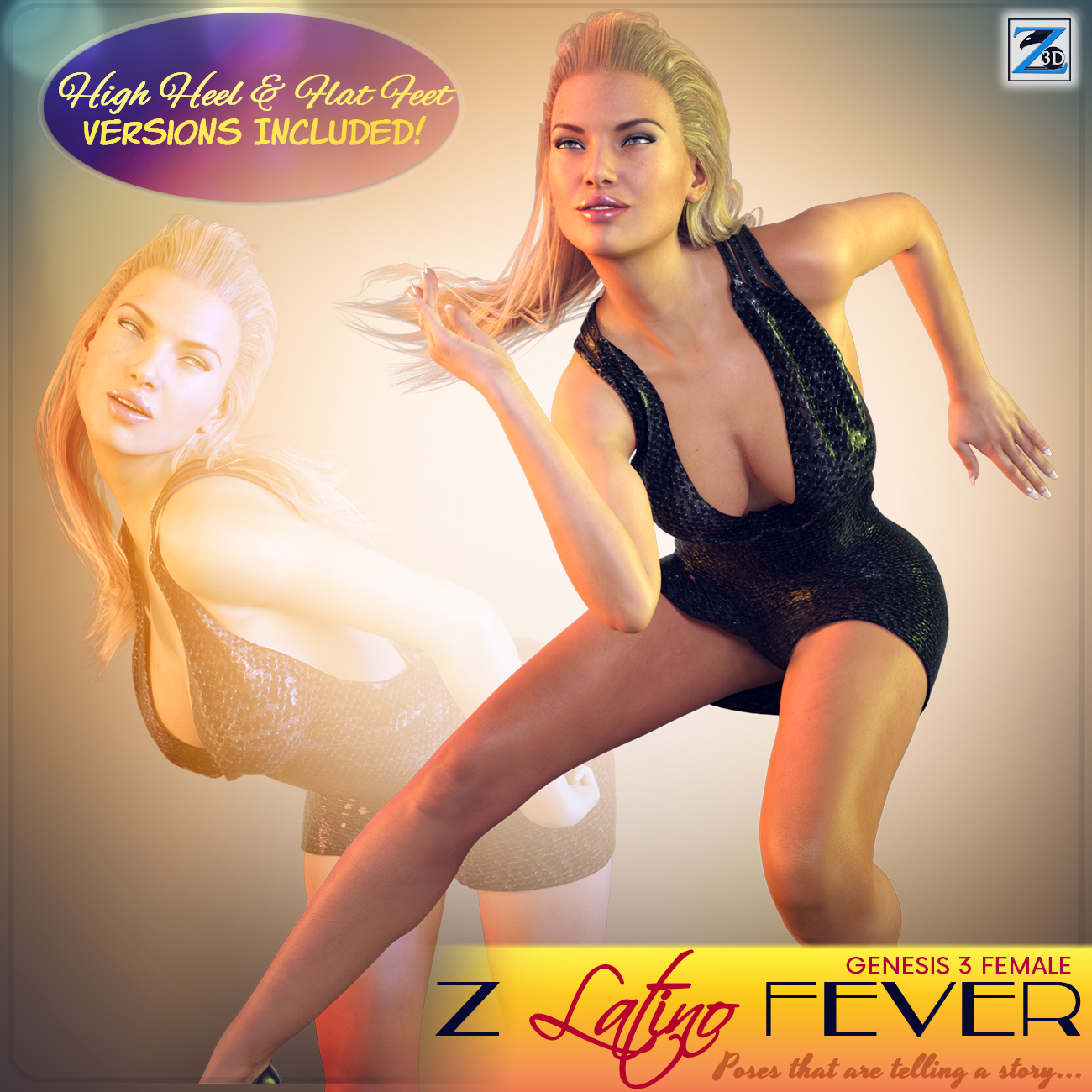 Z Latino Fever - Poses for the Genesis 3 Female(s)