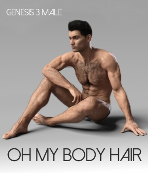 Oh My Body Hair for Genesis 3 Male 3D Figure Assets RedzStudio