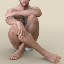 Oh My Body Hair for Genesis 3 Male image 2