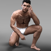 Oh My Body Hair for Genesis 3 Male image 3