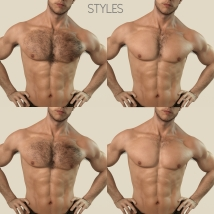 Oh My Body Hair for Genesis 3 Male image 4