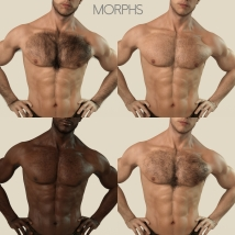 Oh My Body Hair for Genesis 3 Male image 5