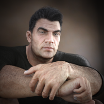 Oh My Body Hair for Genesis 3 Male image 7