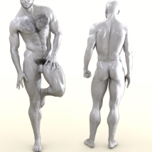 Oh My Body Hair for Genesis 3 Male image 8