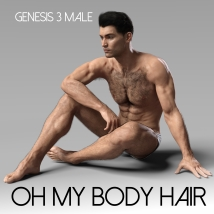 Oh My Body Hair for Genesis 3 Male image 10