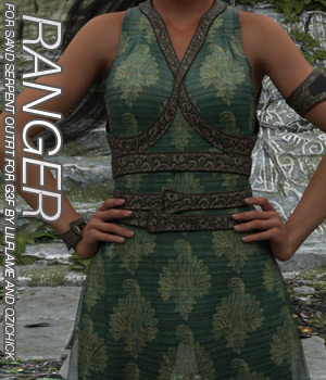RANGER - Sand Serpent Outfit for Genesis 3 Female(s) 3D Figure Assets Anagord