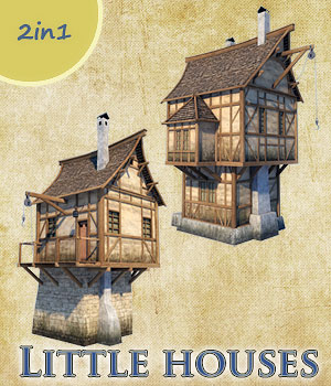 Little houses 3D Models 1971s