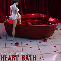 Heart Bath Daz Studio image 1