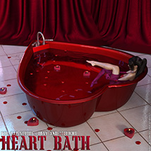 Heart Bath Daz Studio image 2