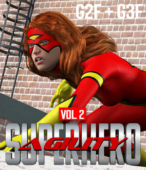 SuperHero Agility for G2F & G3F Volume 2 3D Figure Assets GriffinFX