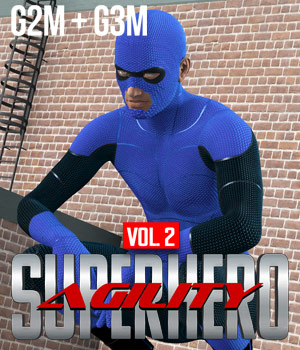 SuperHero Agility for G2M & G3M Volume 2 3D Figure Assets GriffinFX