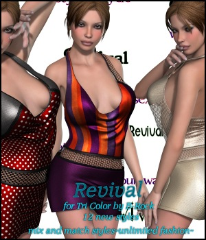 Revival for Tri Color 3D Figure Assets JudibugDesigns