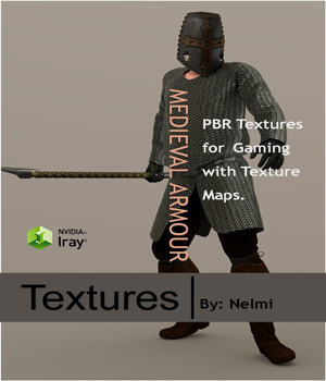 Medieval Armour PBR Textures - Extended License 2D Graphics 3D Game Models : OBJ : FBX Extended Licenses nelmi