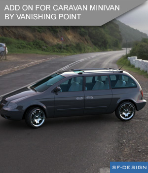 Add On for Caravan Minivan by VanishingPoint (Daz Studio) 3D Figure Essentials SF-Design