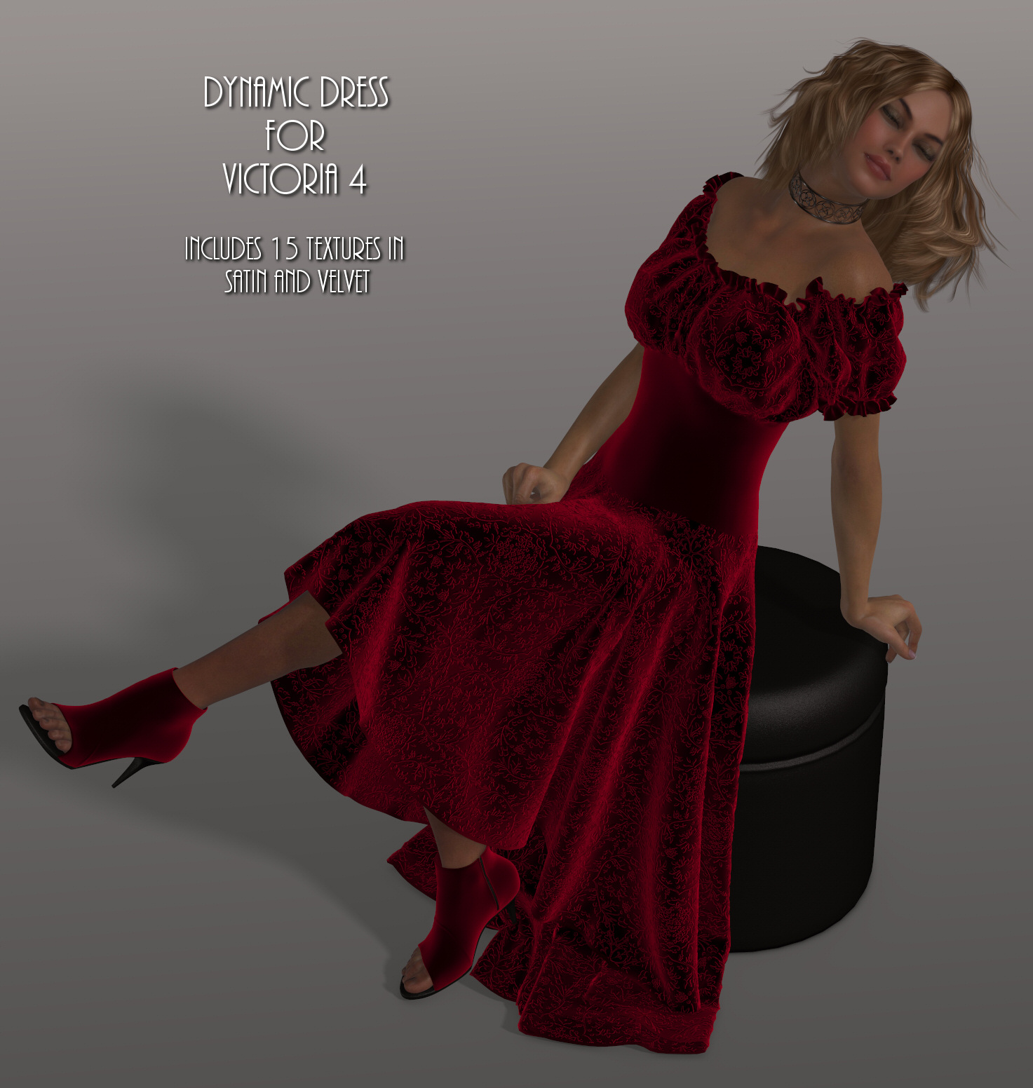 Dynamics 12 - Wench Dress for Victoria 4 by Lully