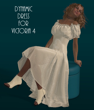 Dynamics 12 - Wench Dress for Victoria 4 3D Figure Assets Lully