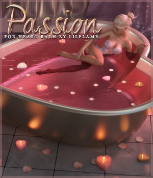 Passion for Heart Bath Daz Studio 3D Figure Assets Sveva