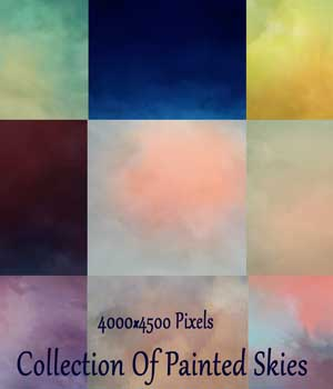 Collection of Painted Skies 2D Graphics EllerslieArt