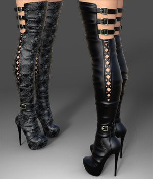Amelia High Boots for Genesis 3 Female(s) 3D Figure Essentials Arryn