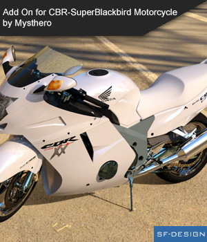 Add On Iray Extension for CBR-SuperBlackbird Motorcycle by Mysthero 3D Figure Assets SF-Design