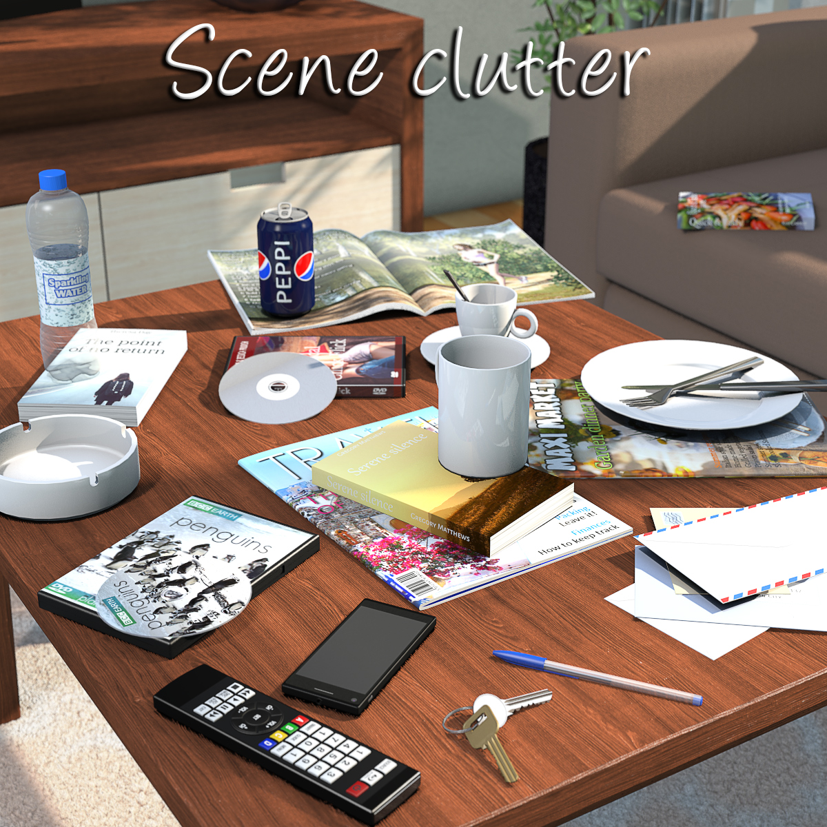 Everyday items, Scene clutter