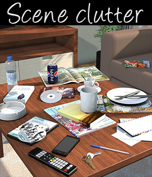 Everyday items, Scene clutter 3D Models 2nd_World