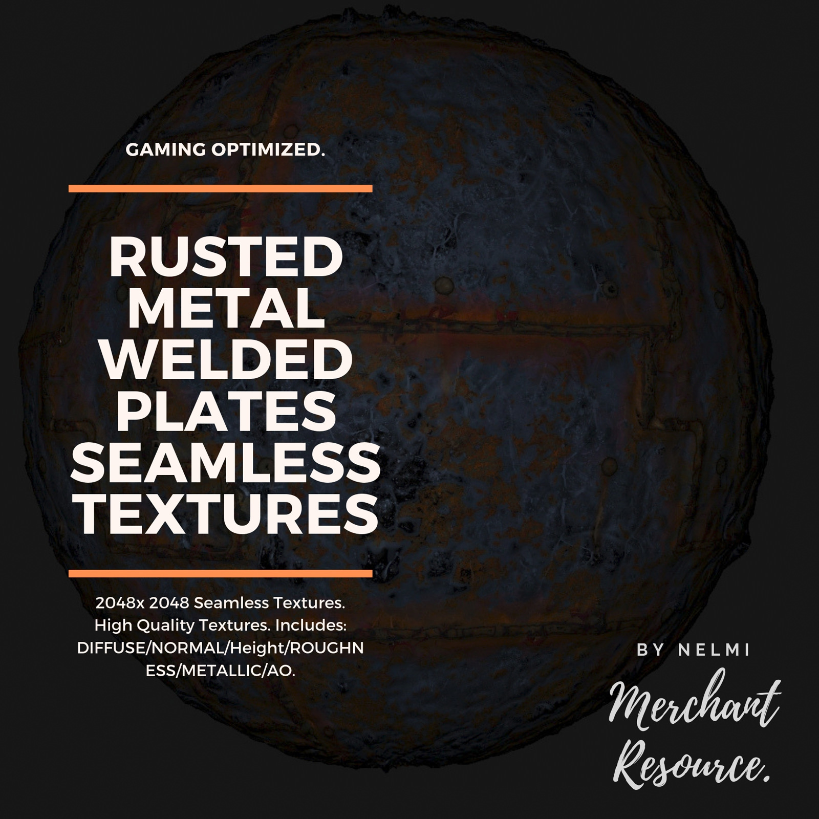 10 Seamless Rusted Metal Welded Plates PBR Textures and Texture Maps
