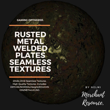 10 Seamless Rusted Metal Welded Plates PBR Textures and Texture Maps image 2