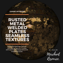 10 Seamless Rusted Metal Welded Plates PBR Textures and Texture Maps image 3