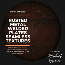 10 Seamless Rusted Metal Welded Plates PBR Textures and Texture Maps image 4