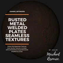 10 Seamless Rusted Metal Welded Plates PBR Textures and Texture Maps image 5