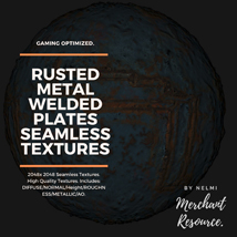 10 Seamless Rusted Metal Welded Plates PBR Textures and Texture Maps image 6