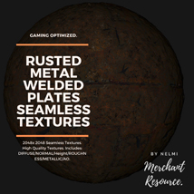 10 Seamless Rusted Metal Welded Plates PBR Textures and Texture Maps image 9