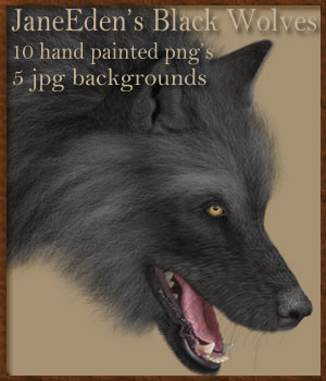 JaneEden's Black Wolves 2D Graphics JaneEden