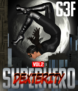 SuperHero Dexterity for G3F Volume 2 3D Figure Assets GriffinFX