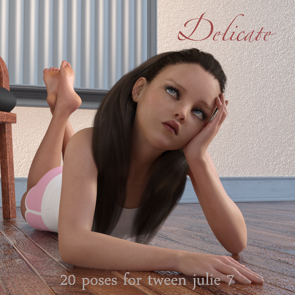 Delicate - Poses for Tween Julie 7 by AliveSheCried