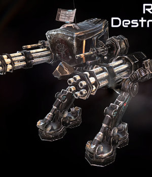 Robot Destroyer - Extended License 3D Models Extended Licenses Game Content - Games and Apps KRBY