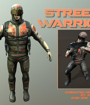 Street Warrior - Extended License 3D Models Extended Licenses Game Content - Games and Apps KRBY