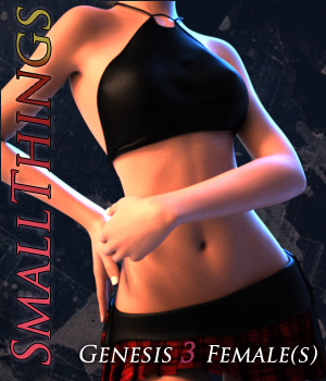 SmallThings for Genesis 3 Female 3D Figure Assets Quanto