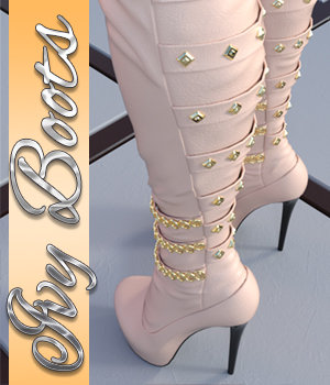 Ivy High Boots - G3 Female(s) 3D Figure Assets 3DSublimeProductions