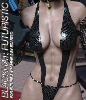 BLACKHAT:FUTURISTIC - Future Swimwear 2 for G3F 3D Figure Essentials Anagord