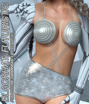 BLACKHAT:FUTURISTIC - Future Swimwear 3 for G3F 3D Figure Essentials Anagord