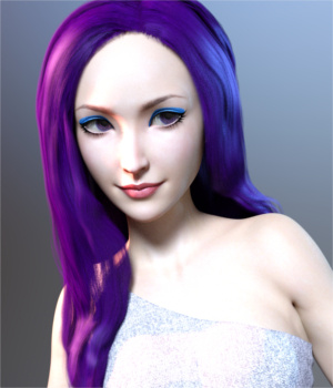 Pop Glam Hair for Genesis 3 Female(s)  3D Figure Assets Toyen